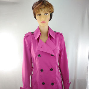 Vince Camuto women fuchsia double breasted Coat M